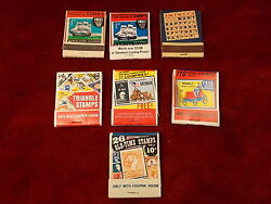 24 Of 27, Lot Of Old Vtg Matchbooks, Triangle, Worldwide, British Empire Stamps