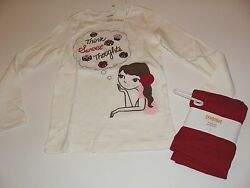 Gymboree Holiday Sweet Treats Girls Size 6 Top Candy Bon Red Leggings NWT NEW $24.99