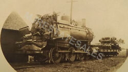 Early 1900and039s Train Wreck Rppc Railroad Depot Steam Engine Shaybaldwin