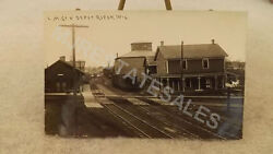 Early 1900and039s Ripon Wisconsin C.m. And St.p. Railway Train Depot/station Rppc