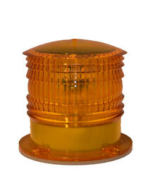 S6ls 2nm Ip67 Amber Yellow Steady-on Solar Led Marine Barge Safety Beacon Light