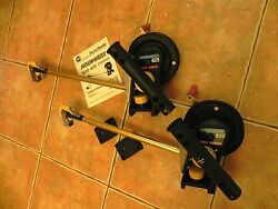 2 Penn Fathom-master 625 Downriggers With Rod Holder And Base Plate Matching Pair