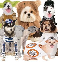 Dog Cat Star Wars Yoda Ewok Atat Leia Darth Vader Bb8 R2d2 Fancy Dress Costume