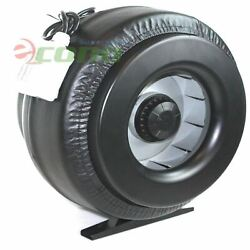 12 Inch Inline Duct Fan Vent Exhaust Air Cooled Hydroponic Fan Blower 1200cfm