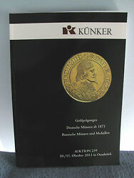 Kunker Auction Catalog Gold Embossed Coins From 1871+russian Coins And Medallions