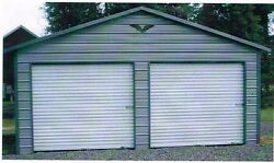 Two Car Garage 22 x 26 x 8 Metal Carport INSTALLED ALL STEEL- View our STORE!