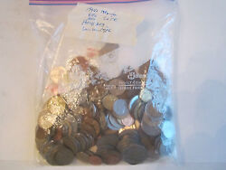 Almost 2 Lbs Of Vintage World Wide Coins - Totally Unsearched - Mexico And More