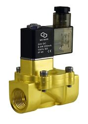1/2 Inch Brass Electric Air Water Solenoid Power Save Process Valve 24v Dc