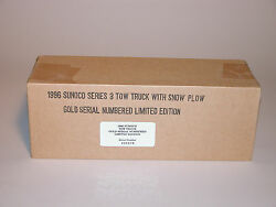 Sunoco 1996 Tow Truck With Snow Plow 3rd Anniversary Truck Gold Edition Mib