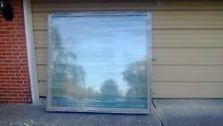 New Huge Pella Wood Fixed Picture Window W/ Cladding And Tempered Glass 74x71