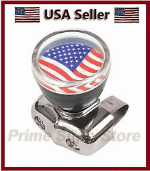 New Usa Flag Car Steering Wheel Spinner Handale Auto/truck Suicide Power Knob