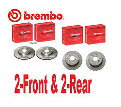 4-genuine Brembo Rotors 2-front And 2-rear Toyota Camry 2002 To 2005