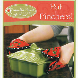 Pot Pinchers Sewing Pattern Handy Little Oven Mitts Kitchen Potholders Stove