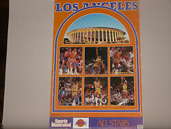 Basketball Los Angeles Lakers 1989 Sports Illustrated Signed Player Poster