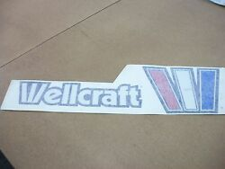 Nos Oem Wellcraft Boat 6 High X 20 Wide Port Nameplate W2602-2991
