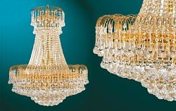Brand New Elegant Mid Sized Crystal Chandelier