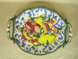 Fitz And Floyd Classics Fruits And Berries 17 Handled Oval Serving Platter