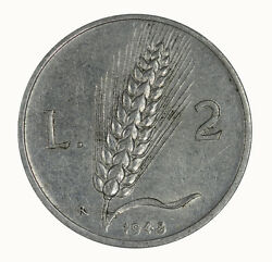 Italy 1948 Two Lire Coin Aunc