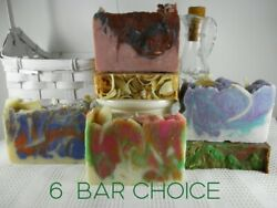 6 Bars Goat Milk Soap your Choice Natural Soap Organic Homemade amp; Free Gift