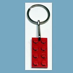 Lot of 5 - 1000 Key Ring w LEGO 2x4 Red Plate Birthday Party Favor Game Prize