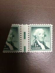 1031 1cent Washington With Full Gutter And 70 Of Another Stamp Mint Never Hinge