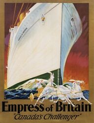4685.empress Of Britain.canada's Challenger.poster.decor Home Office Art