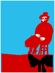 5281.woman In Red Sitting On Stool.lonely.sad.poster.decor Home Office Art
