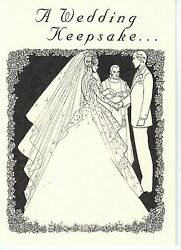 Wedding Card W/ King George Vi New Zealand .500 Silver Sixpence For Brideand039s Shoe