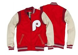 Philadelphia Phillies Mitchell And Ness Mlb 1972 Authentic Wool Jacket