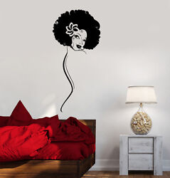 Vinyl Decal Hot Sexy Girl Black Lady Cool Room Decor Wall Sticker Ig2223