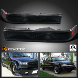 For 1998-2004 Chevy S10 Blazer Black Bumper Parking Signal Lights Left+right