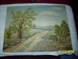 M. Taylor Signed Old Painting Landscaped Scene Beautiful