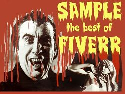 6620.sample The Best Of Fiverr.man Dressed As Dracula.poster.art Wall Decor