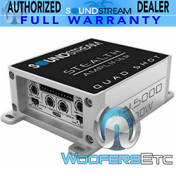Soundstream St4-500 W Compact Mini Small Motorcycle 4-channel Speakers Amplifier