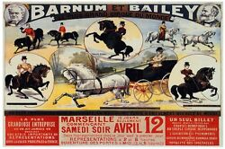 6980.barnum And Bailey.people Riding Horses.poster.interior Art Wall Decor