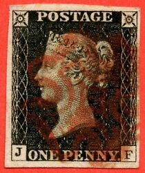 Sg. 2 C. A1 2 H. As20. Jf . 1d Black. Plate 3. A Fine Used Example.