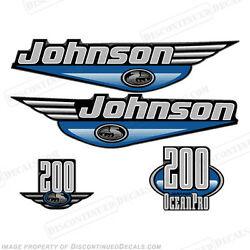 Johnson 1999-2000 Oceanpro 200hp Outboard Decal Kit - You Choose Color Decals