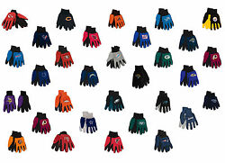 Nfl Sport Utility Gloves - Two Tone Gloves For Work And Play - Choose Your Team