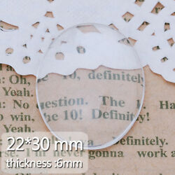 50 2230mm Oval Flat Back Transparent Crystal Clear Glass Cabochon Domes C3882