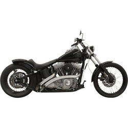 Bassani Chrome Radial Sweeper 22 Exhaust W/ Heat Shields Harley Softail And Dyna