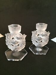 Llalique Candle Holders