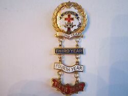 Vintage Little Systems Choir Medal With 2nd 3rd 4th And 5th Years - Nice