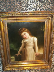 Innocent Young Girl Museum Quality Masters Style Reproduction Oil Painting
