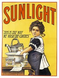 9632.girl Washing Dishes With Soap.poster.decor Bathroom Room Wall Art