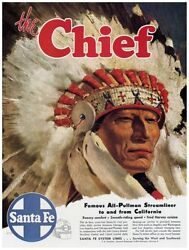 9660.the Chief.famous All Train Streamliner.poster.decor Home Office Art