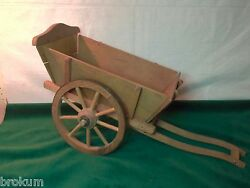 Toy Wood Wagon Cart With Spoked Wood Wheels Germany