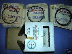 Nos Piston Ring Complete Set Ford V-8 1932-42 .020 Over 85 Hp 3 Ring Pistons