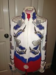 Amazing One Of A Kind Western Pleasure Jacket W/matching Pants Chaps And Boots