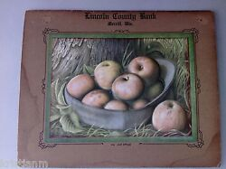 Embossed Just Apples Prentice Lincoln County Bank Merrill,wis. Calendar 1900's