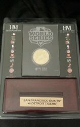 Mlb 2012 World Series Champions Giants Gold Coin With Stand 5000 Limited Rare